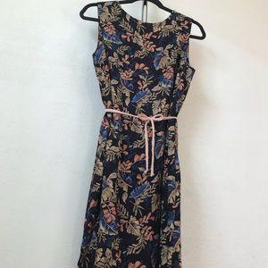 🌼VINTAGE 2pc MidiFloral Dress & Belt